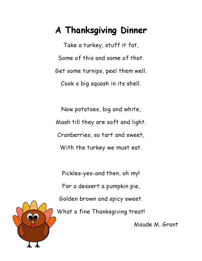 Thanksgiving 2019 Poems