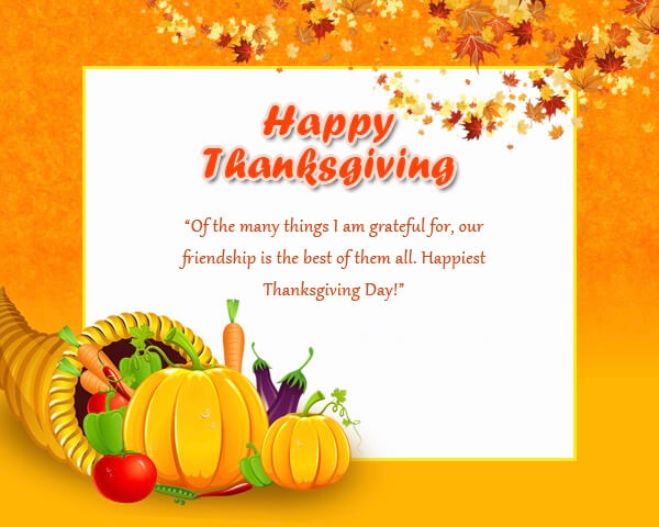 Thanksgiving Messages For Cards