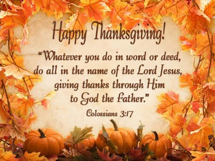 Happy Thanksgiving Verses From The Bible About KJV, NIV