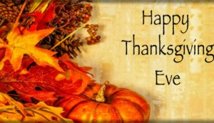 Happy Thanksgiving Eve Images