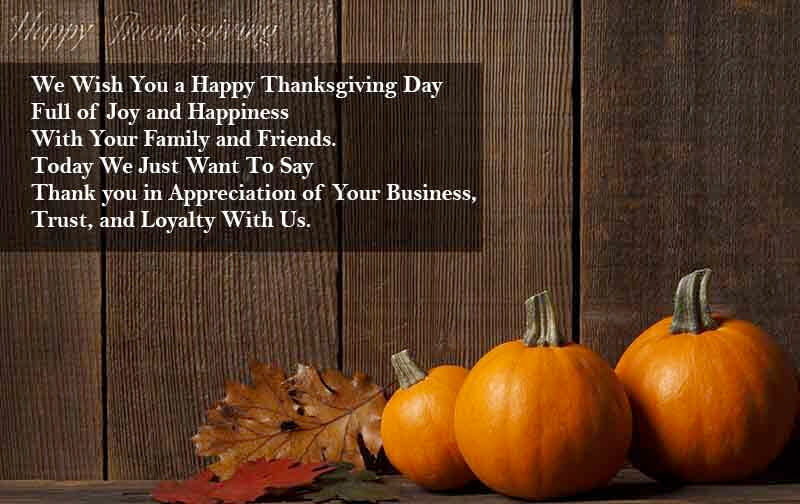 Thanksgiving 2019 Messages