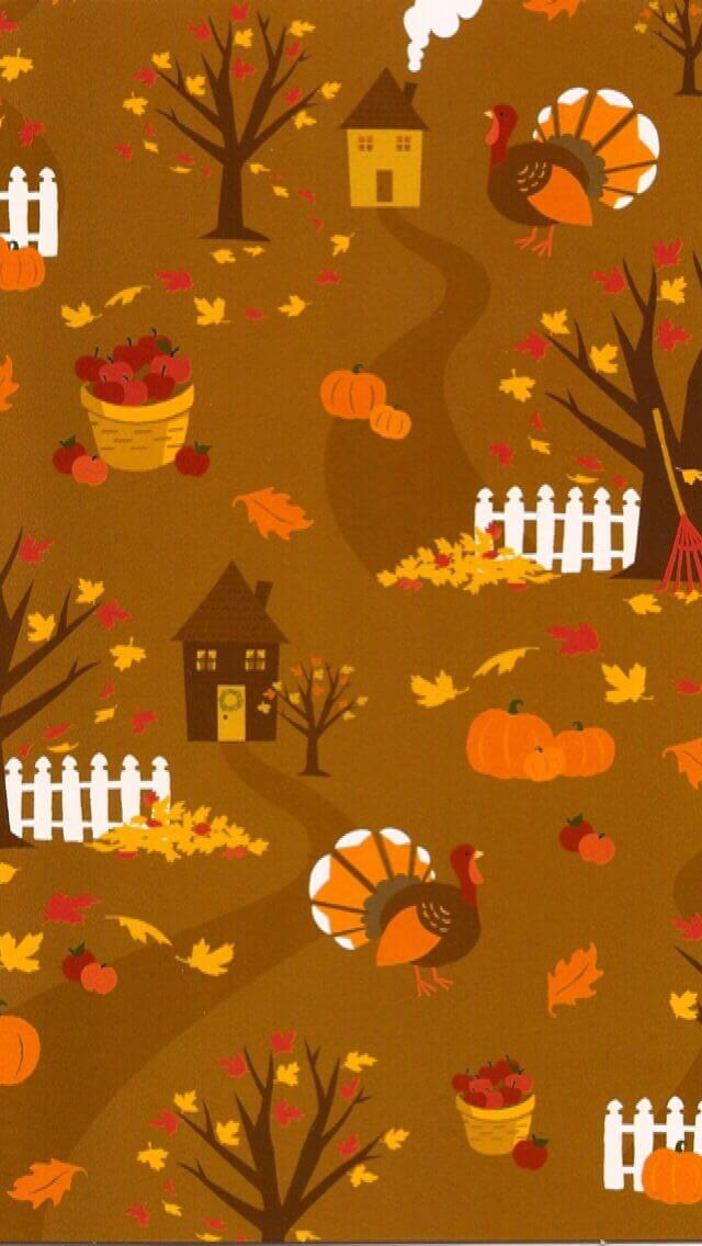 Thanksgiving Backgrounds For iPhone
