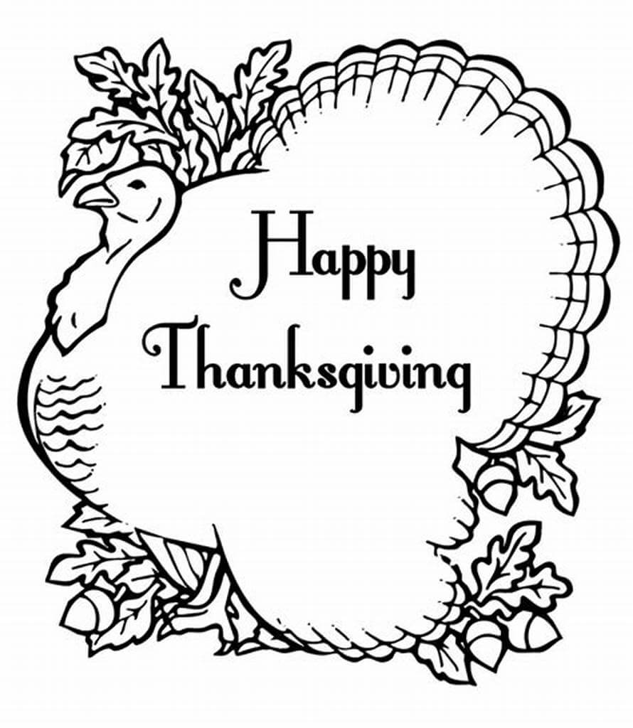 Thanksgiving Images To Colour