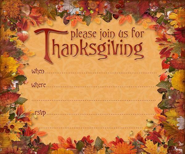 Thanksgiving Invitation Images