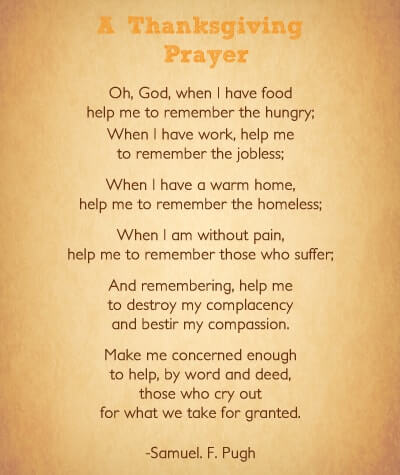 Thanksgiving Prayers