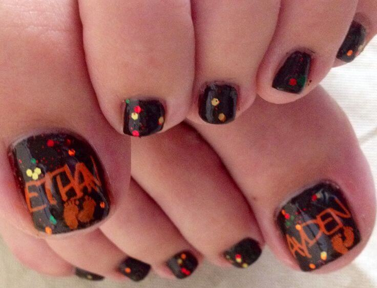Thanksgiving Toe Nail Designs