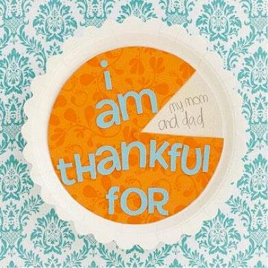 Thanksgiving Thankful Pie Spinner For Kids